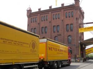 Barley arrives at Weyermann's Malt Factory in Bamberg Germany