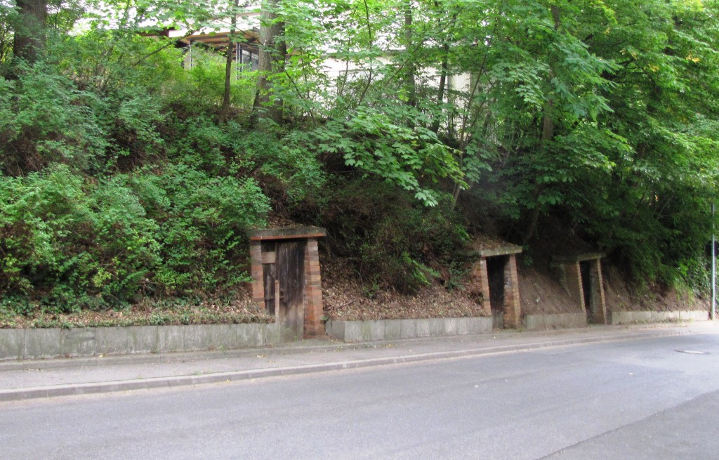 Doors lead to former kellers -- former mines in which breweries used to condition beers. Gardens on the land above provided shade and kept the kellers cooler. Some kellers in Germany are still in use