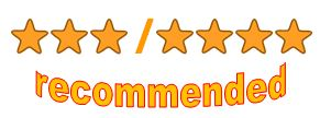 3 - 4 stars recommended