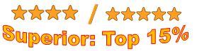 4 to 5 stars superior top 15 percent