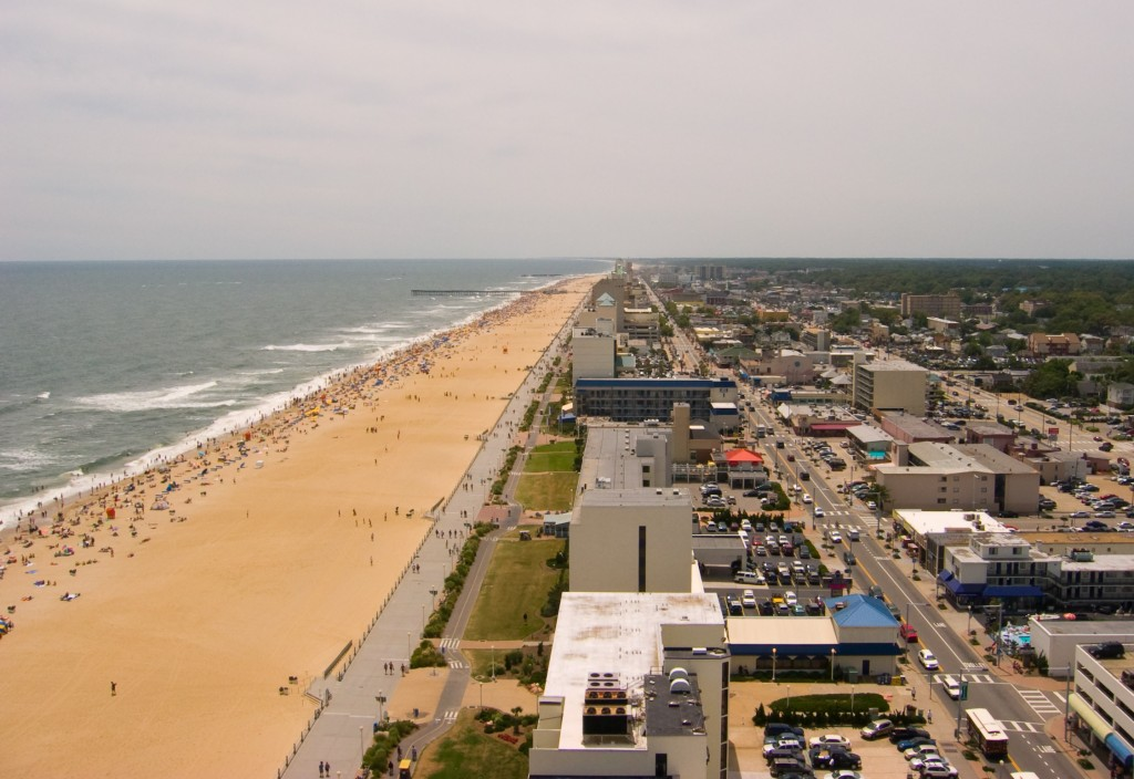 Aerial view of Virginia Beach.  See* for credit