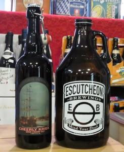 escutcheon cheerly kriek bottle and growler IMG_0356