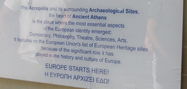 "Athens: ""Europe Starts Here"""