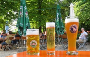 Pilsner may be served in a delicate size, but it's still a bargain at the keller.