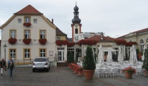 Schwetzingen Hausbrauerei zum Ritter has a perfect location in the city center