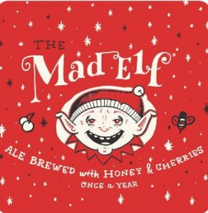 Troegs Mad Elf-- Whimsy in the label, but Mad Elf is serious beer. (courtesy Troeegs Independent Brewery)