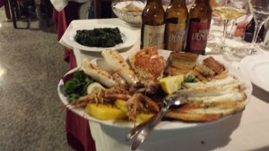 The shellfish appetizer is one of San Travaso's best dishes.
