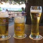 Among the golden beers served in the Weihenstephaner garden is the world's best hefeweizen beer.